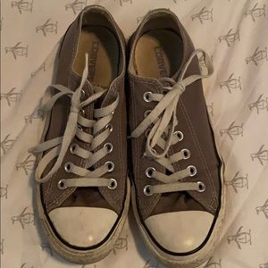 Grey Converse Low Tops